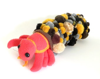 Trichoptera larva plush soft sculpture