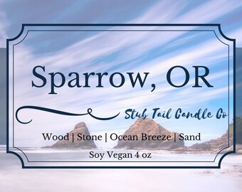 Sparrow, OR - Soy Candle Inspired by The Wicked Deep