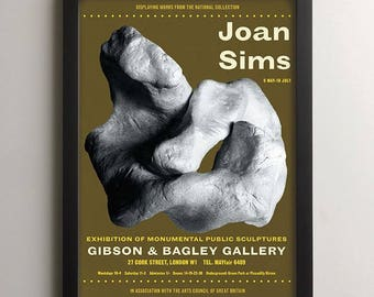 Joan Sims Carry On Film Actor Art Exhibition Poster, Vintage Movie Poster, Sculpture Print, Retro Style British Comedy Art, Home Decor