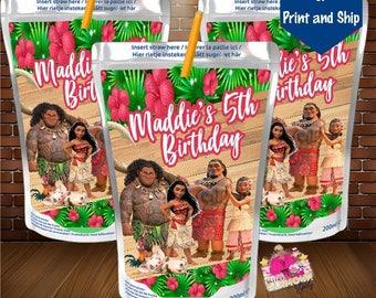Moana Capri Sun, juice label, Moana birthday party, Moana party favor, party favor-DIGITAL FILE ONLY. You Print