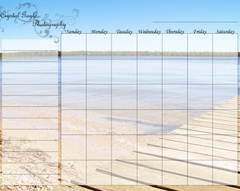 Wet or Dry Erase, Reusable Magnetic Fridge Calendar, Monthly Planner, Daily Routine, Grocery List and Meals Schedule, Emergency Contacts