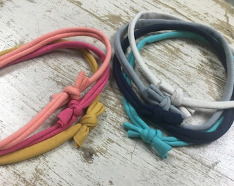 Set of 7 sweet simple baby headbands // strechy soft hairband // multicolor baby gift set solid colors // adult headbands