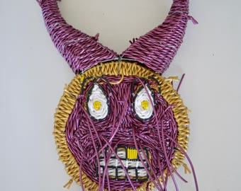 African mask Scoubidous wire weaving