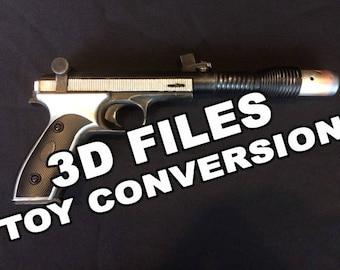 Defender-5 Vice Admiral Holdo blaster - 3D PRINT FILES STL's