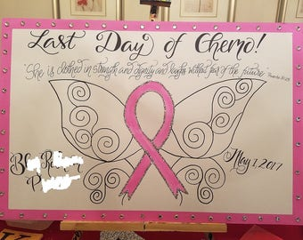Cancer Last Day of Chemo Poster, Last Day of Treatment, Chemo Sign, fighting illness, breast cancer, chemo patient, cancer encouragement