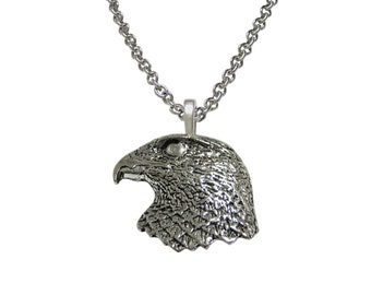 Hawks Head Pendant Necklace