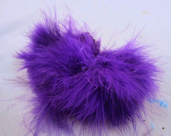 wooly bugger marabou bright purple MRWD-64 Craft feathers wispy