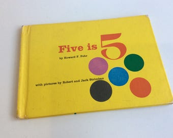 Vintage Children's Book, Five is 5