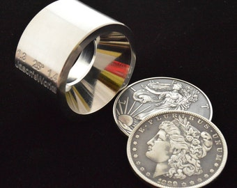 """One Universal Reduction Die for the """"Fat Tire Look"""" for large sized coin rings  1.3"""" x 1.4"""" at  25 degrees"""