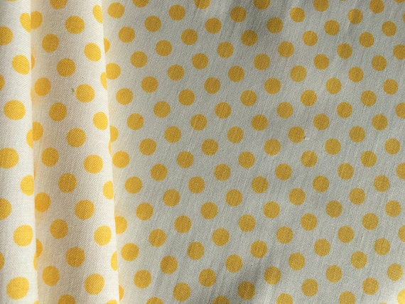 Riley Blake Basics Small Dot Yellow C480-50  3/4 yard- 1 yard