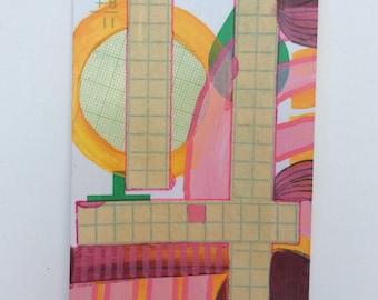 "Original Flashcard Painting ""3+8"""