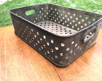 Awesome Industrial Factory Iron Basket dated 1907