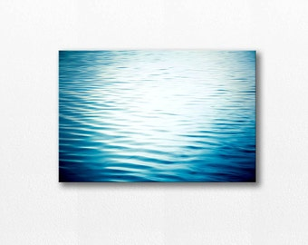 abstract beach canvas photography canvas print nautical decor 12x12 24x36 fine art photography ocean water ripples canvas wrap azure blue