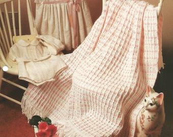 Crochet pattern leaflet, 'Peppermint Drifts'