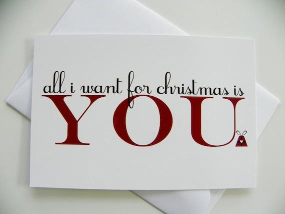 romantic christmas card all i want for christmas romantic