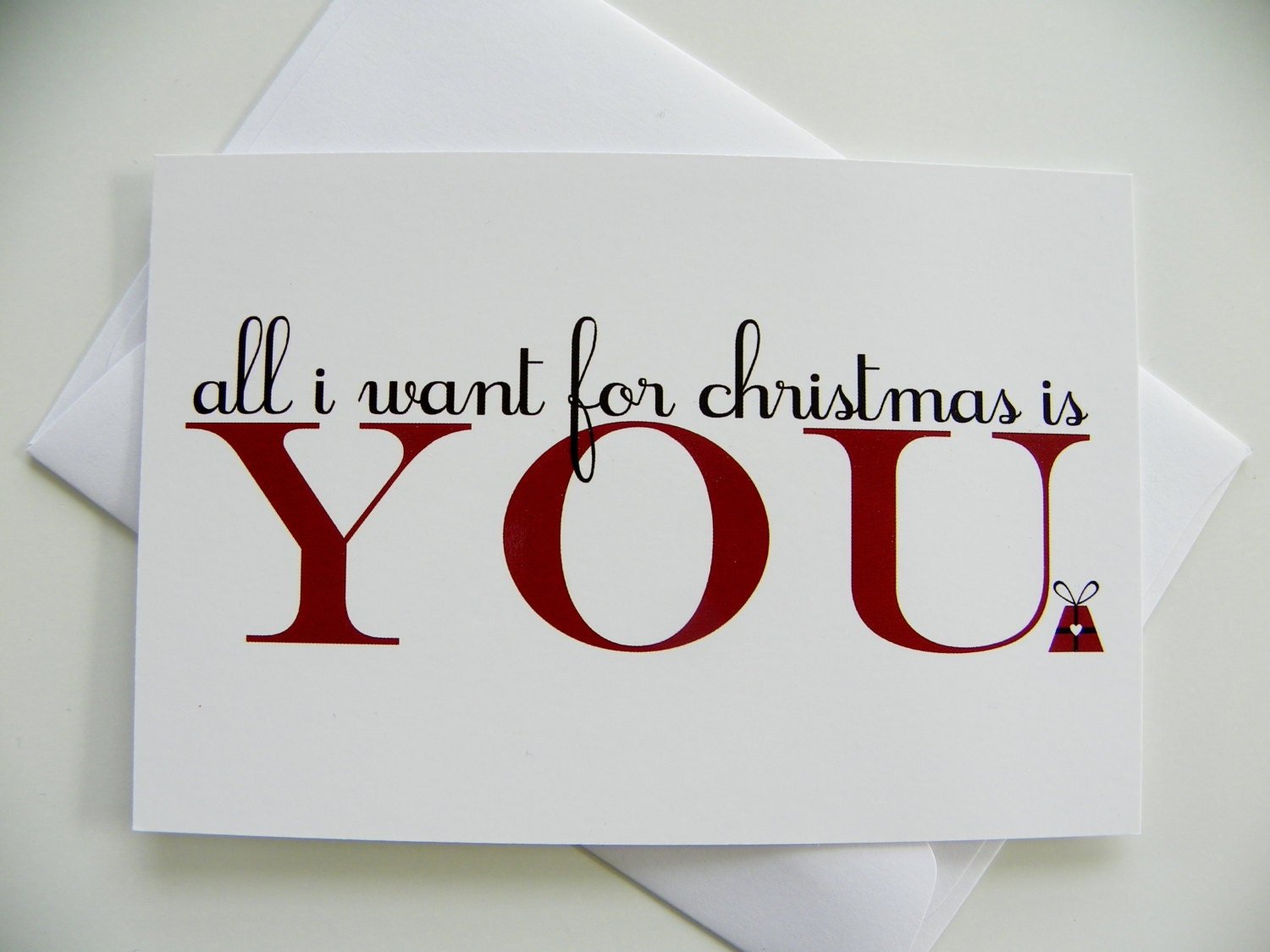 Romantic christmas card all i want for christmas romantic zoom kristyandbryce Image collections