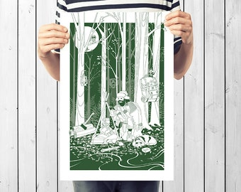 Into the Wild | illustrated giclée print