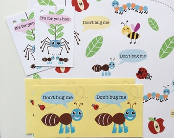 Don't Bug Me Gift Wrap Set