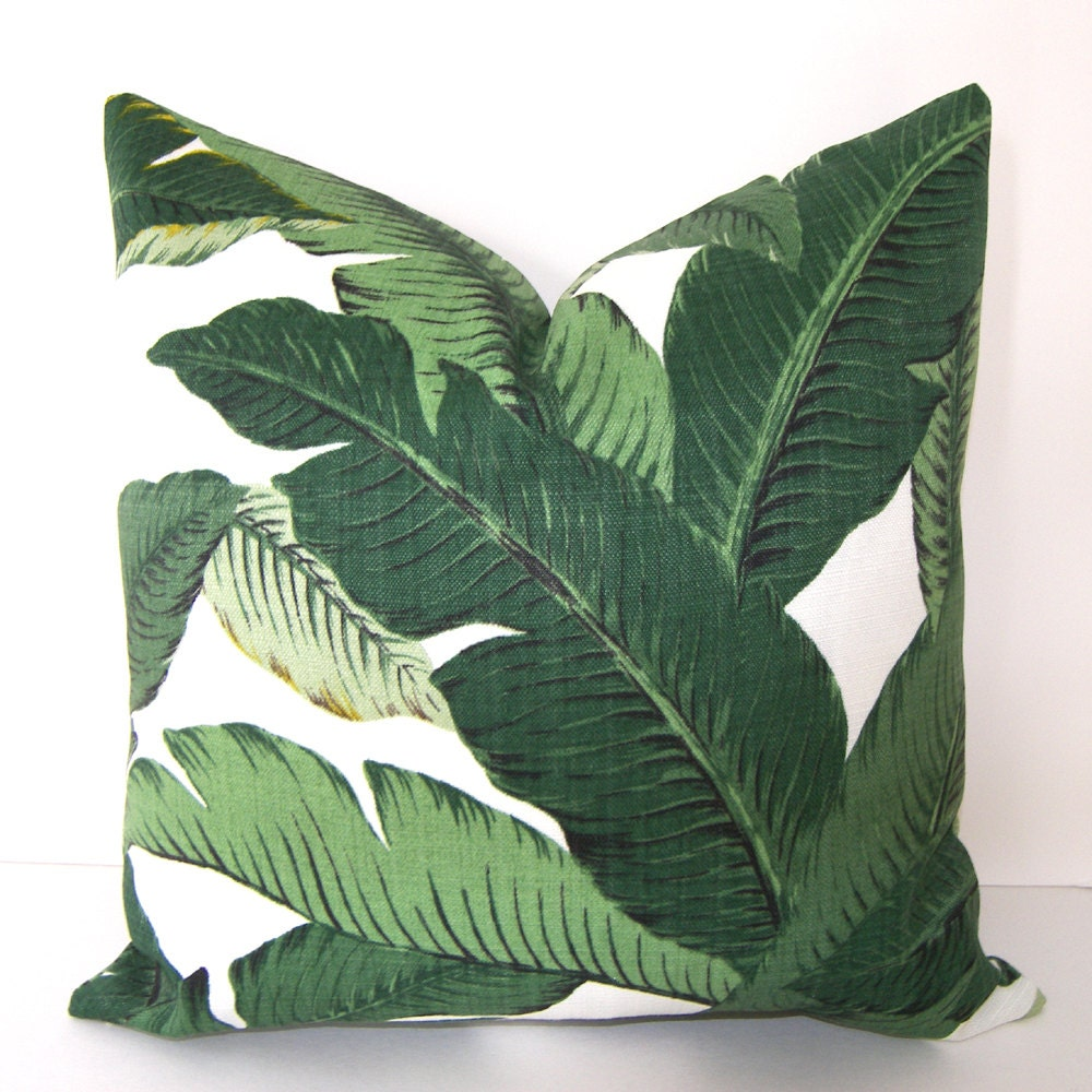 Popular Swaying Palms Tropical Palm Leaf Pillow Cover Banana Leaf SW08