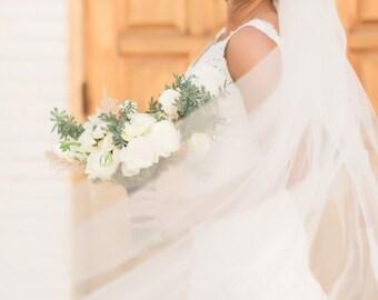 Soft Wedding Veil- Full Volume