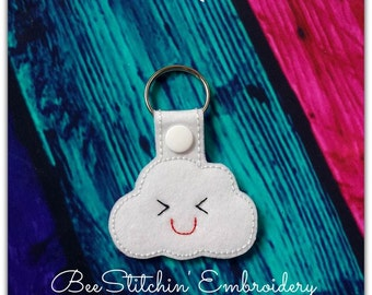 Cloud ITH Snap Tab - 4x4 Embroidery Design - INSTANT DOWNLOAD