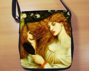 Small Shoulder Bag, Dante Rossetti Lady Lilith, Small Crossbody Bag, Small CrossBody Purse, Cross Body Bag, Sling Bag, Small Purse, Bag