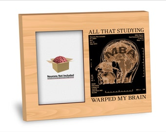 Graduation Picture Frame -MBA Degree Picture Frame  - Personalization Available - 8x10 Frame - 4x6 Picture