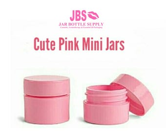 6 Cute Mini 7.5ml Empty Lip Gloss, Lipstick, Perfume Sample Jars - THICK Plastic Great Quality Ointment, Cream Party Favors, Spa Party