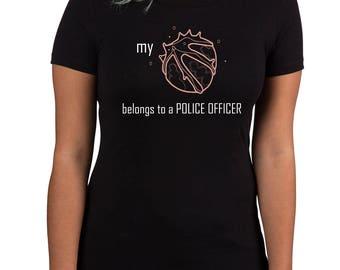 my heart belongs to a police officer (women's)