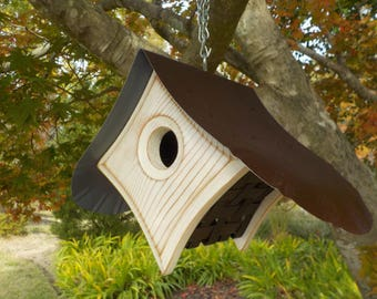 Outdoor Birdhouse / MODERN BIRDHOUSE / Hand Crafted Birdhouses