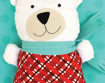 Barry Cold Polar Bear Softie PDF Sewing Pattern