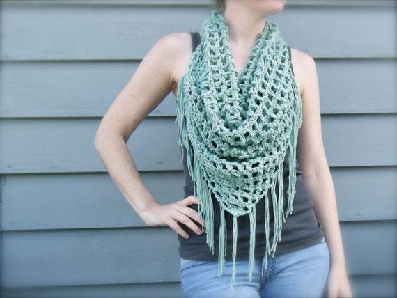 Diy Crochet Pattern Summer Scarf Triangle Scarf Bandana Scarf
