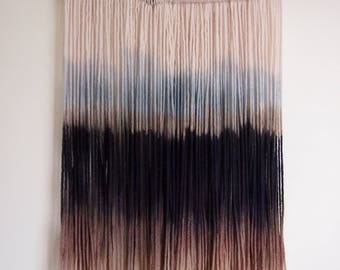Dip Dyed Tapestry | Wall Hanging | Woven Art | Boho Decor