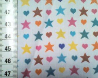 Creation of fabric printed stars and hearts