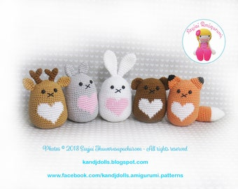Forest Friends - Instant Download PDF Crochet Pattern - English, German, French, Italian, Danish and Dutch Instructions