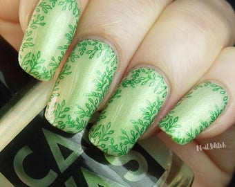 SUMMER CHILD by CANVAS lacquer, a soft minty green, with golden iridescent shimmer
