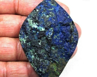 ON SALE 40% OFF 214ct Lapis Druzy Natural Gemstone, Cabochon Loose Gemstone in Stock 46x68