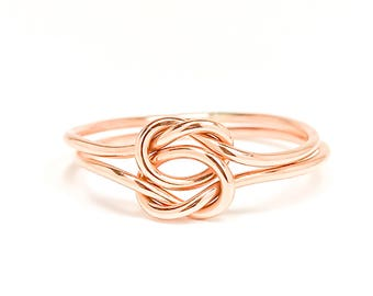 Double Knot Ring- 14K Rose Gold-filled, Tie the Knot Ring, Bridesmaids Gift, Friendship Gift, Wedding Favors, Rose Gold, Rose Gold Ring