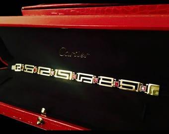 Cartier 18k Gold Burmese Ruby Bracelet