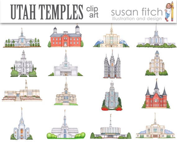 utah lds temples clip art rh etsy com lds temple clipart download free lds temple clipart black and white