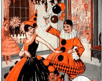 HALLOWEEN Revels Vintage Halloween Illustration Scanned From Original 1920s BOGIE Book Digital Download