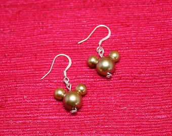 Pearl Mickey Mouse Earrings