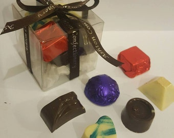 Selection of chocolate truffles, selection box, chocolate box, truffles, chocolate selection