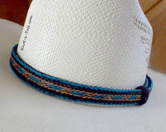 Boldest, horsehair hat band, Cinnamon-teal, Cowboy horsehair hat band, No tassels, Western hat band, Rodeo, style EXTREMELY Beautiful