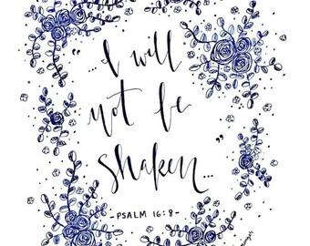 Floral Psalm Print