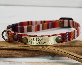 Small Dog Collar, Cat Collar,  Dog Collar, Vegan Collar, Breakaway Collar, Kitty Collar, Personalized Cat Collar, Personalized dog