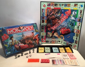 Monopoly: The Disney Pixar Edition Great Condition Complete FREE SHIPPING