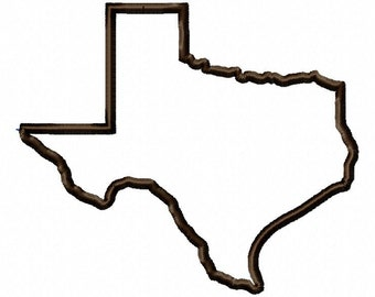 State of Texas applique design download - 5x7 hoop size