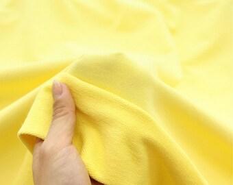 Franse Baby Terry Knit stof geel door de werf