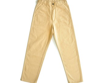 NWT Sauce Zhan Retro Chino Deck Pants NWT Beige High Waist Wide Legs